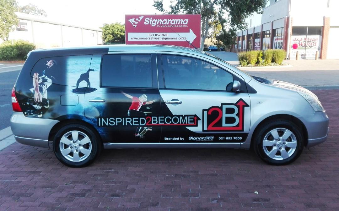 I2B car gets branded.